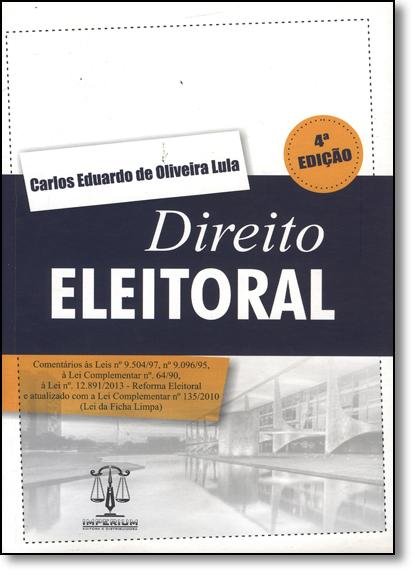 Direito Eleitoral, livro de Carlos Eduardo de Oliveira Lula