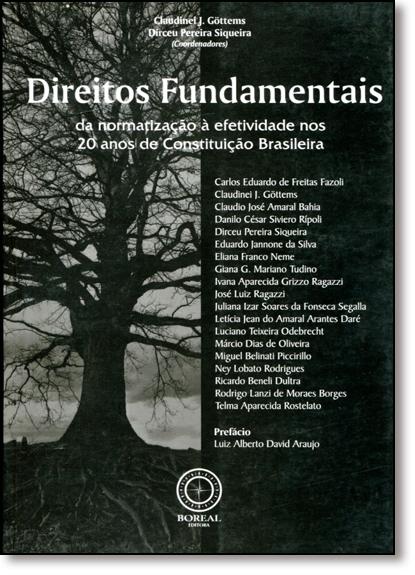 Direitos Fundamentais: Da Normatização À Efetividade nos 20 Anos de Constituição Brasileira, livro de Claudinei J. Göttems