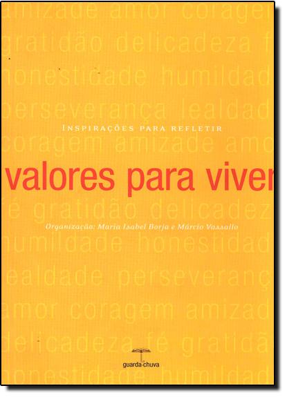 VALORES PARA VIVER, livro de BORJA/ VASSALLO