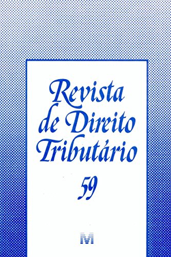 Revista De Direito Tributario - N. 59, livro de Varios