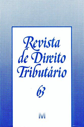 Revista De Direito Tributario - N. 63, livro de Varios