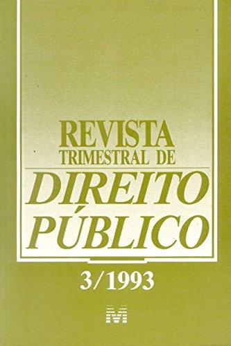 Revista Trimestral De Direito Publico N. 03, livro de Varios