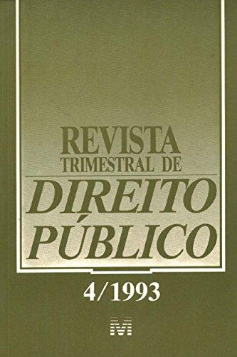 Revista Trimestral De Direito Publico N. 04, livro de Varios