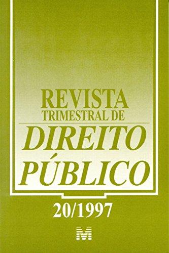Revista Trimestral De Direito Publico N. 20, livro de Varios