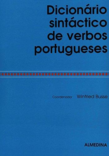 Dicionário Sintáctico de Verbos Portugueses, livro de Coordenação: Winfried Busse