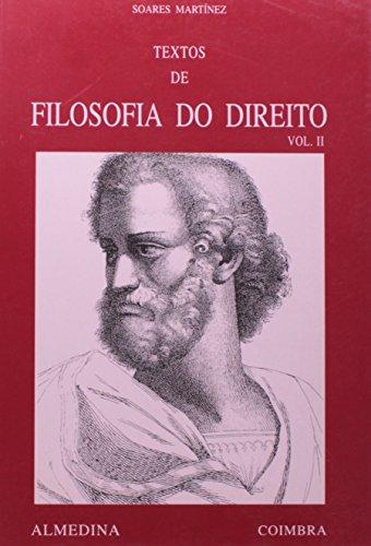 Textos de Filosofia do Direito - Vol. II, livro de Pedro Soares Martínez