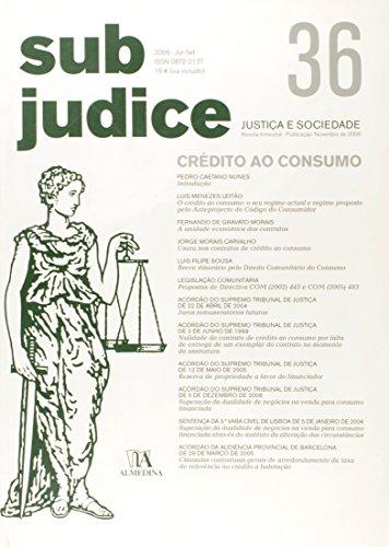 Sub Judice 36 - Crédito ao Consumo, livro de Vários
