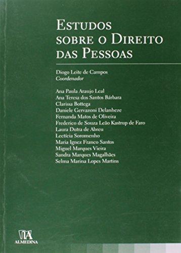Estudos sobre o Direito das Pessoas, livro de Coordenador: Diogo Leite de Campos
