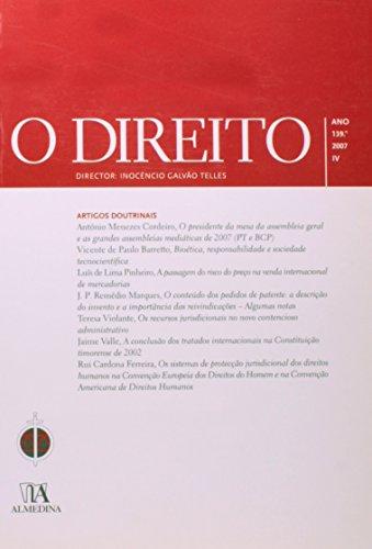 O Direito - Ano 139.º, 2007 - IV, livro de Director: Inocêncio Galvão Telles