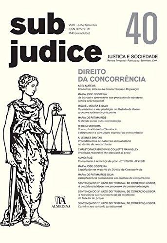 Sub Judice 40 - Direito da Concorrência, livro de Vários