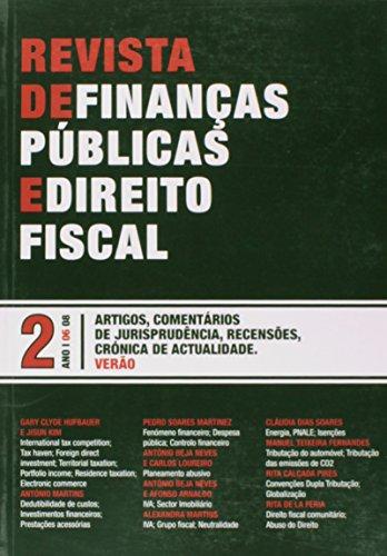 Revista de Finanças Públicas e Direito Fiscal - Ano I - Número 2 - Verão, livro de Vários