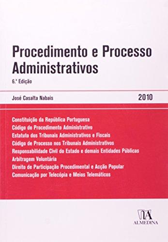 Procedimento e Processo Administrativos, livro de José Casalta Nabais