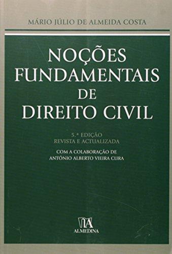 Noções Fundamentais de Direito Civil, livro de Mário Júlio de Almeida Costa