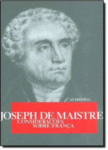 Considerações sobre a França, livro de Joseph de Maistre