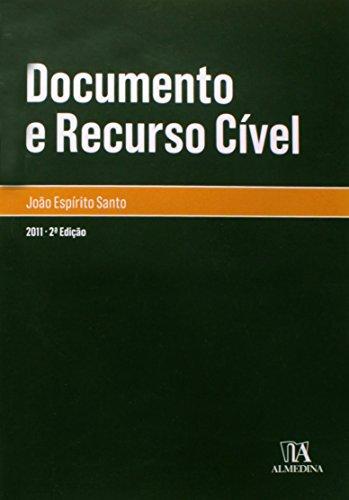 Documento e Recurso Cível, livro de João Espírito Santo