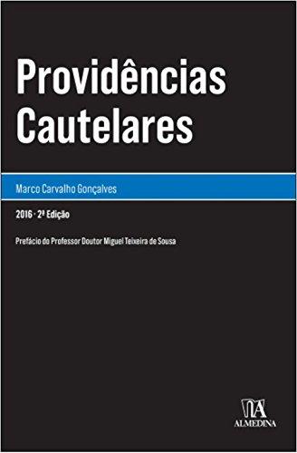 Providências Cautelares, livro de Marco Carvalho Gonçalves
