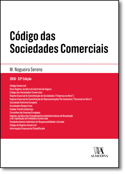 Código das Sociedades Comerciais, livro de Manuel Couceiro Nogueira Serens
