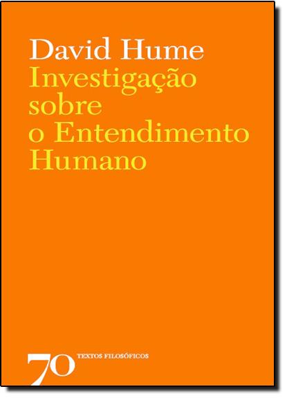 Investigação Sobre o Entendimento Humano, livro de David Hume
