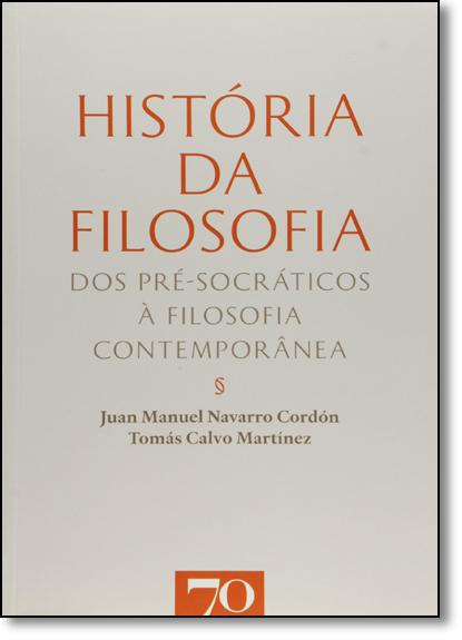 História da Filosofia, livro de Juan Manuel Cordon