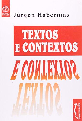 Textos E Contextos, livro de Jürgen Habermas