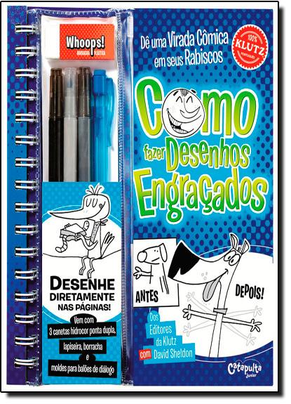 Como Fazer Desenhos Engraçados, livro de David Sheldon