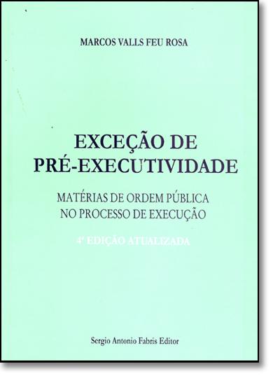 Exceção De Pré-executividade, livro de Vilma Guimaraes Rosa