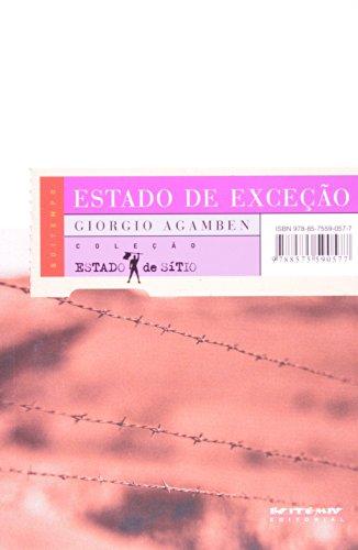 ESTADO DE EXCECAO, livro de Giorgio Agamben